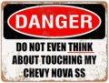 Металлический знак «Do Not Touch My chevy-новы СС Винтаж декоративный жестяной знак домашний Декор стены 12x16 дюймов