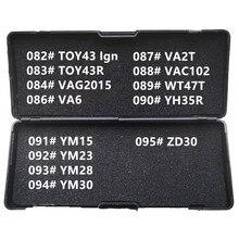 82 95 lishi 2 1 2in1 TOY43 TOY38R VAG2015 VA6 VA2T VAC102 WT47T YH35R YM15 YM23 YM28 YM30 ZD30 모든 유형의 자물쇠 도구