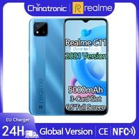 "Global Version realme C11 32GB Android 10 Mobile Phone 6.5""HD Full screen 5000mAh 8MP Camera 10W EU Charger 3-Card Slot OTA 1"