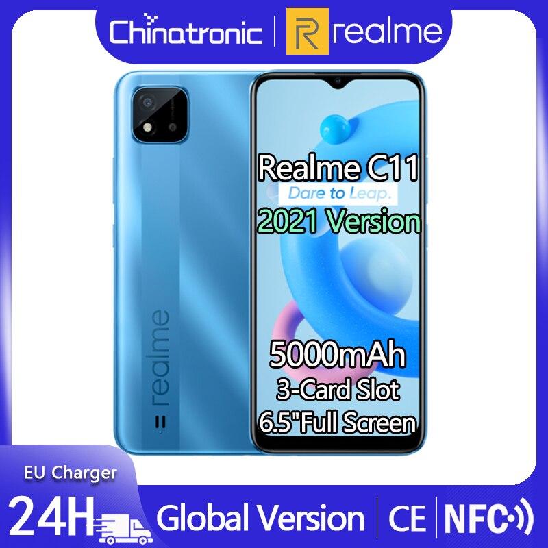 Глобальная версия realme C11 32GB Android 10 Мобильный телефон 6,5
