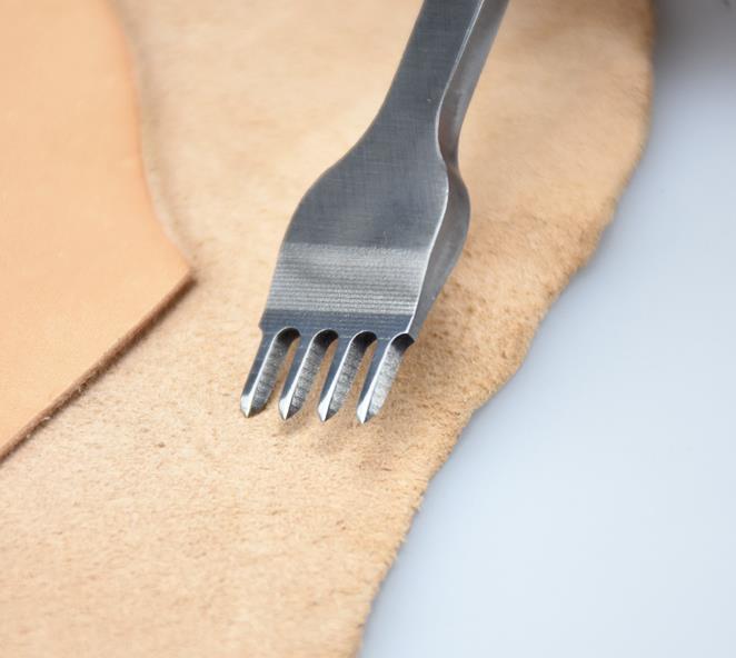 Bricolage en cuir découpeuse Muet poinçonneuse Manuelle Cuir perforateur - 5