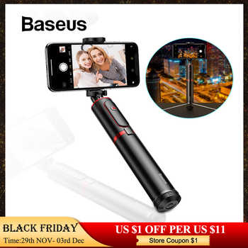 Baseus Wireless Bluetooth Selfie Stick with Extendable Monopod Remote Selfie Sticks Tripod for iPhone Oneplus Huawei palo selfie - Category 🛒 Consumer Electronics
