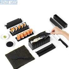 10 sztuk/zestaw DIY do robienia Sushi Sushi rolki formy japońskie Sushi narzędzia kuchenne akcesoria Bento gadżety kuchenne narzędzia Kichen