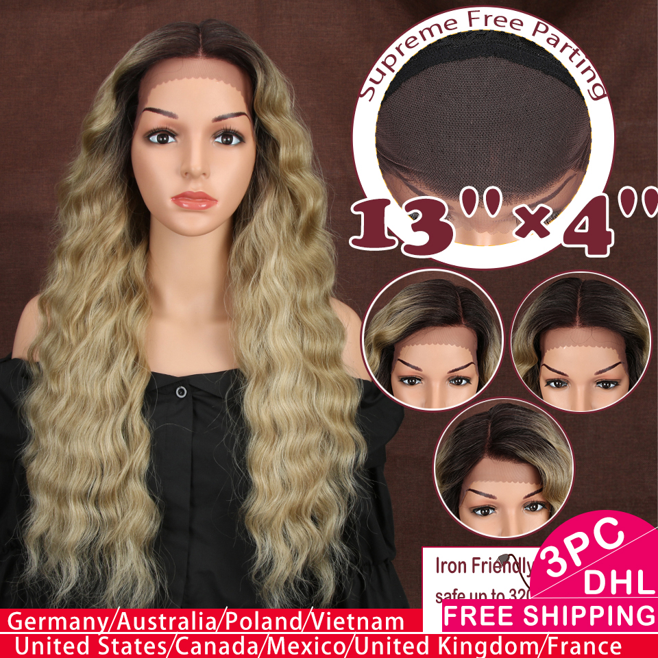 Magic 13X4 Synthetic Lace Front Wigs For Black Women 28