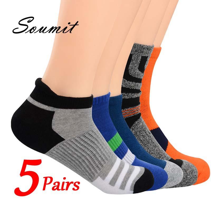 5 Pairs Cotton Socks for Men Winter Warm Breathable Deodorant Short Sock Male Sox Husband Christmas Gift Insert Cushion Foot Pad