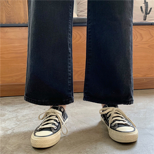 Image 5 - Jeans Women Plus Velvet Thickening Classic High Waist Simple Vintage Wide Leg Trousers BF Loose Womens Harajuku Casual Ulzzang