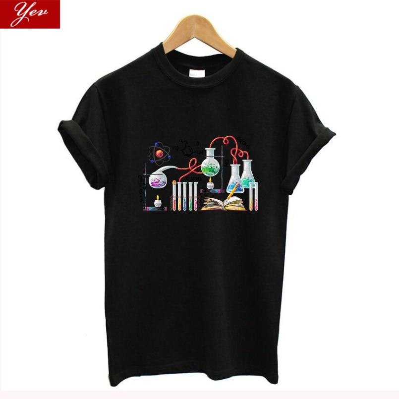 The Big Bang Theory Chemistry T Shirt Women Science Cool Summer Streetwear 100% Cotton T-shirt Women Tee Shirt Homme Harajuku