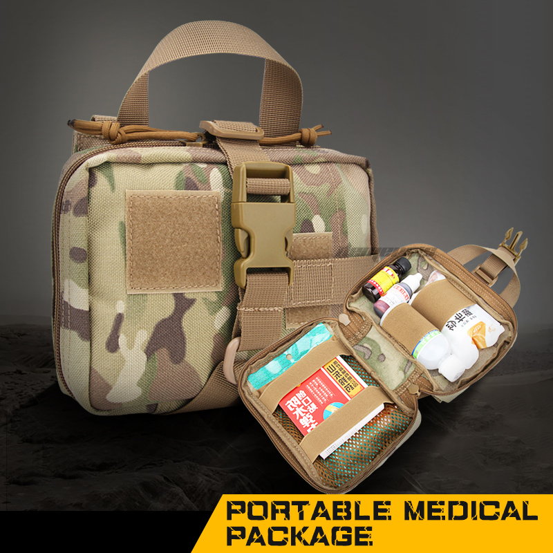 Tactical Medical First Aid Pouch MOLLE Portable Travel Camping Kits Survive Bags Durable Hunting Cs Shooting Hiking Mag Pouches