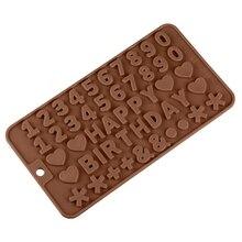 Силиконовые формы для шоколада с буквенным номером формы для помадки инструменты для украшения торта инструменты для выпечки печенья
