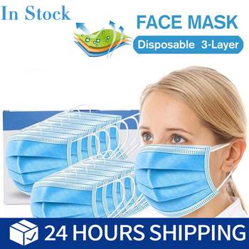 10pcs Anti-Pollution 3 ply Filter Mouth Mask Men Women Anti Dust Disposable Windproof Mouth-muffle Bacteria Proof Flu Face Masks