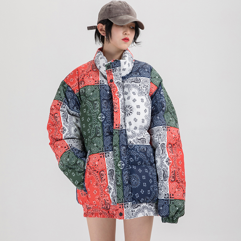 Bandana Coats Men Women Stand Collar Warm Women's Jacket Coat Outerwear Parkas Streetwear Clothing
