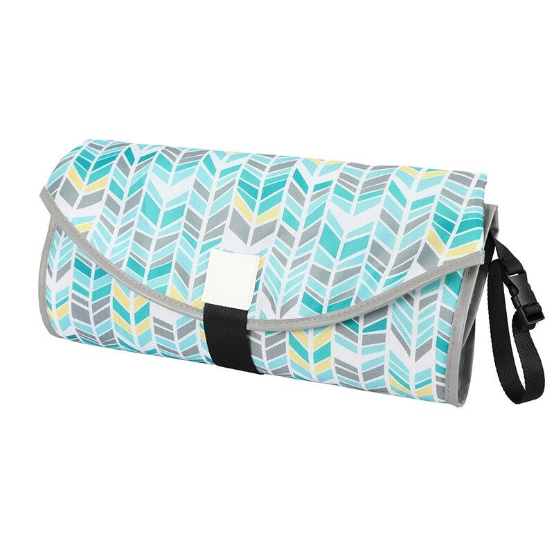 Новые 3 в 1 Водонепроницаемый пеленальный коврик пеленки мнчества, Портативный чехол для детских подгузников коврик чистой ручной складной сумка из узорчатой ткани - Цвет: CPD063