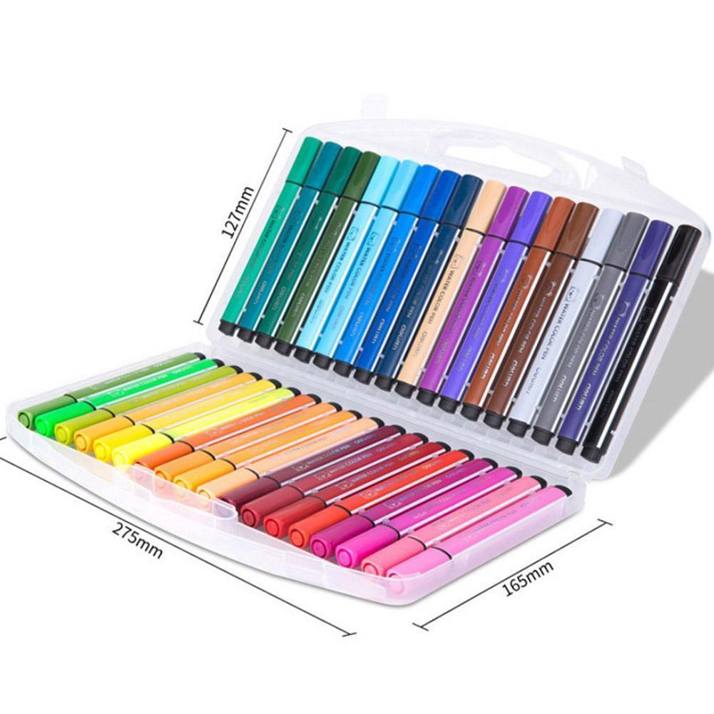 12pcs/set Washable Watercolor Pen Cute Kids Drawing Pens Art Painting Stationery Pen Children Seal Stamp Marker Graffiti T3W1