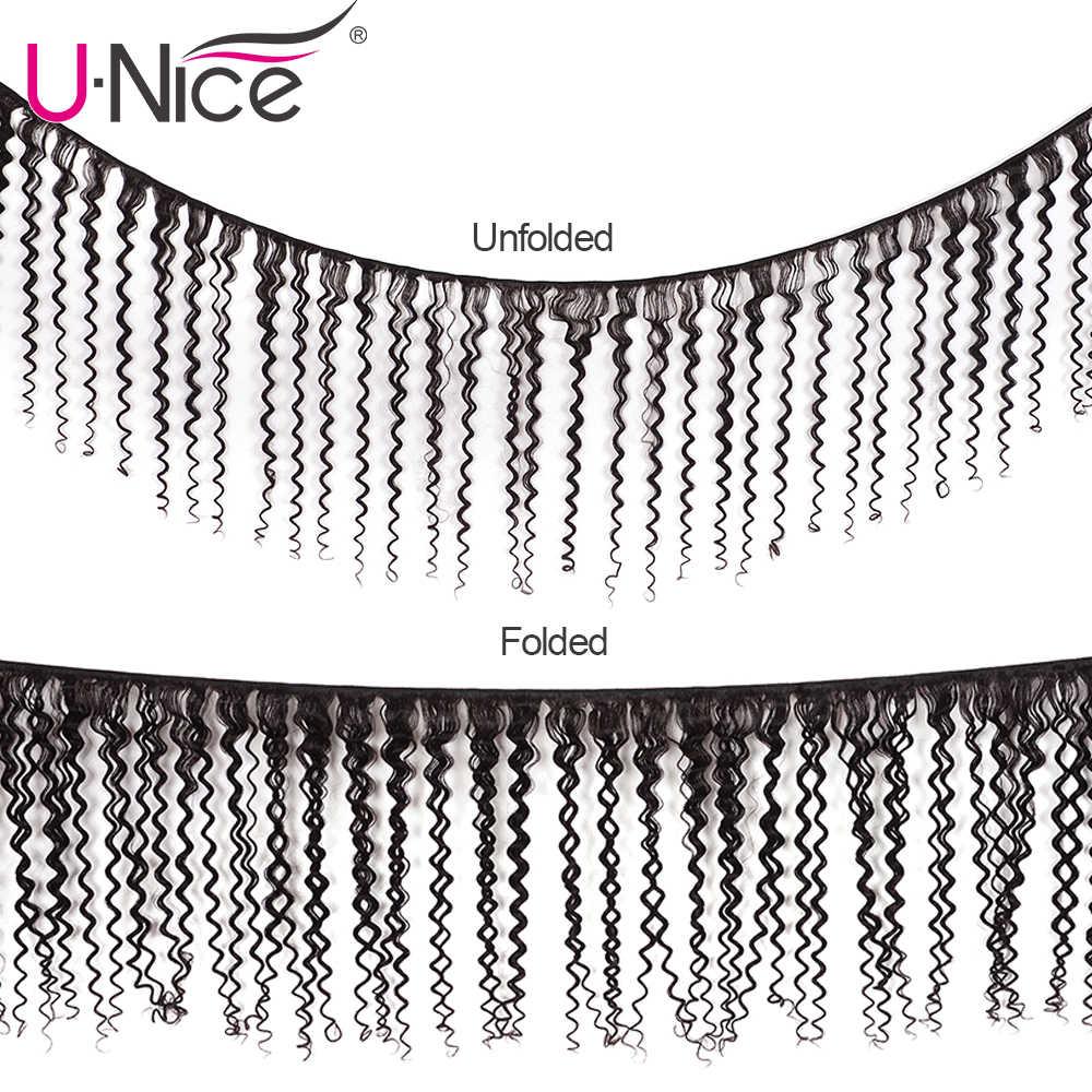"""Unice Haar 100% Curly Weave Human Hair Remy Haar 8-26 """"Braziliaanse Haar Weave Bundels Natuurlijke Kleur 1 stuk Zwarte Vrijdag Aanbiedingen"""