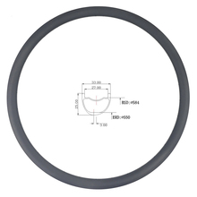 LIENGU גבול 110Kg 350g 27.5er MTB XC 33mm x 25mm עומק נימוק מכריע ללא פנימית אסימטרית פחמן רים קרוס קאנטרי אופניים גלגל 650B