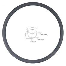 LIENGU jante en carbone asymétrique tubeless de vtt, limite de 110Kg, 350g 27.5er, XC 33mm x 25mm, profondeur de bicyclette de cross country 650B