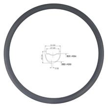 LIENGU limite di 110Kg 350g 27.5er MTB XC 33mm x 25 millimetri di profondità tubeless copertoncino asimmetrico cerchio in carbonio cross country bicicletta ruota 650B
