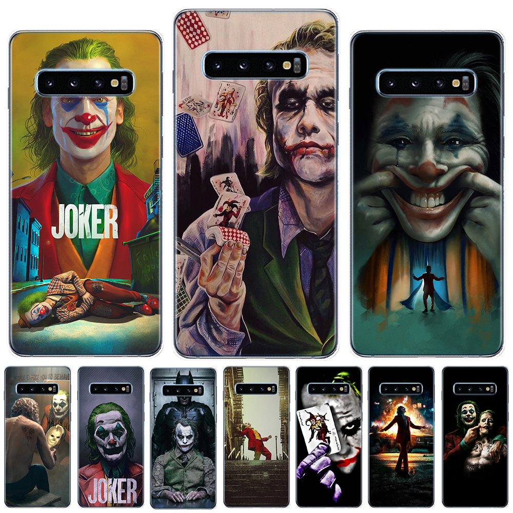 Batman Dark Knight Joker Karta Case For Coque Samsung Galaxy S8 S9 S10 S20 Plus Ultra 5G S10E S6 S7 Edge Silicone Phone Cover image