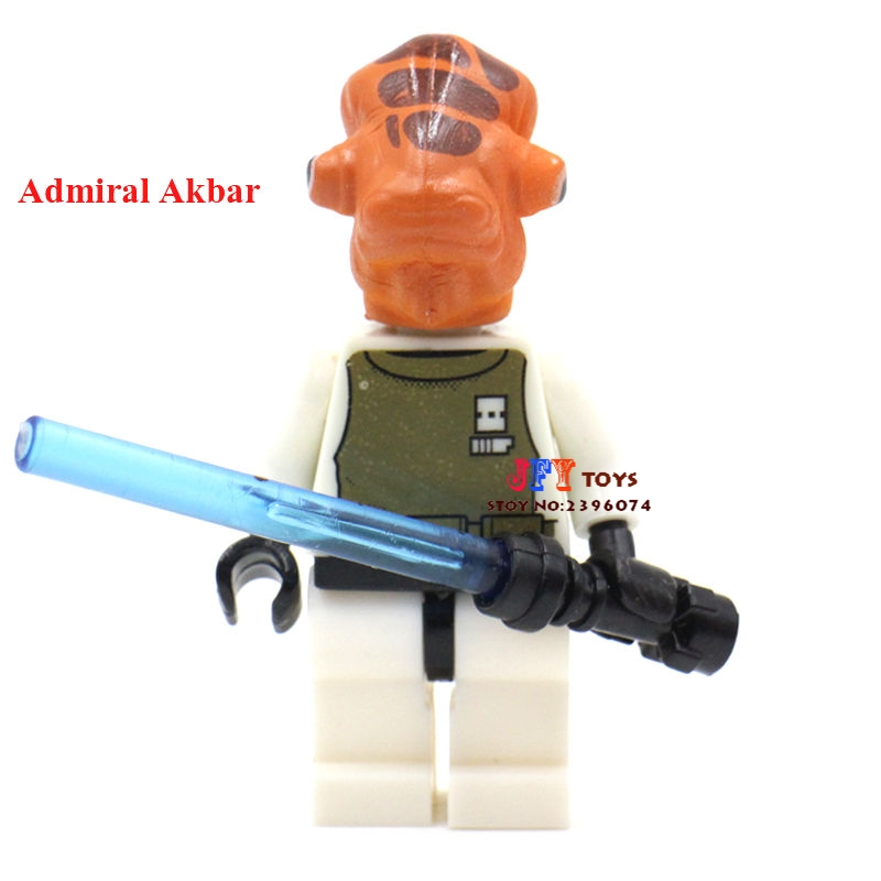 Single Sale Superhero Admiral Ackbar Building Blocks Model Bricks Toys For Children Action Figures