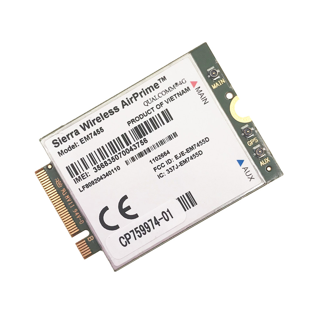 WWAN EM7455 LTE 4G NGFF Module FDD/TDD LTE 4G Cat6 Gobi6000 For Laptop