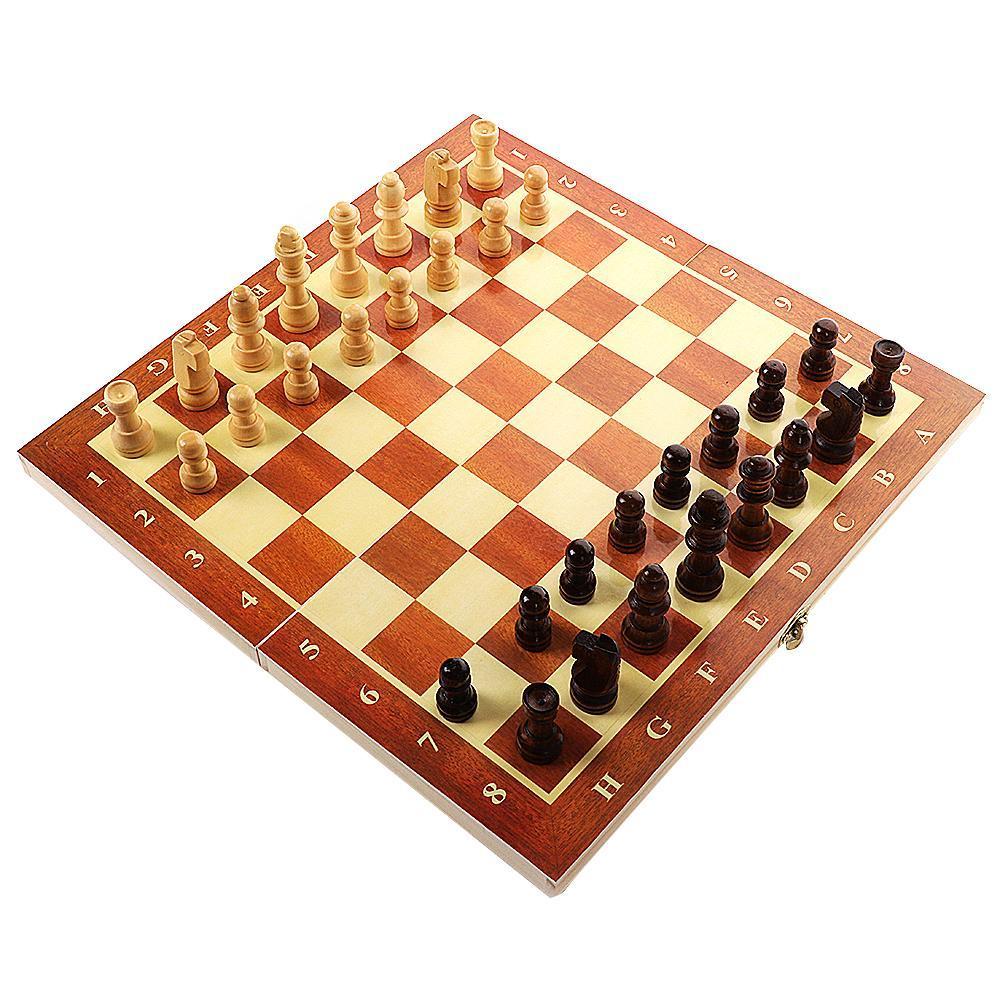 Conjunto de peças de xadrez placa dobrável