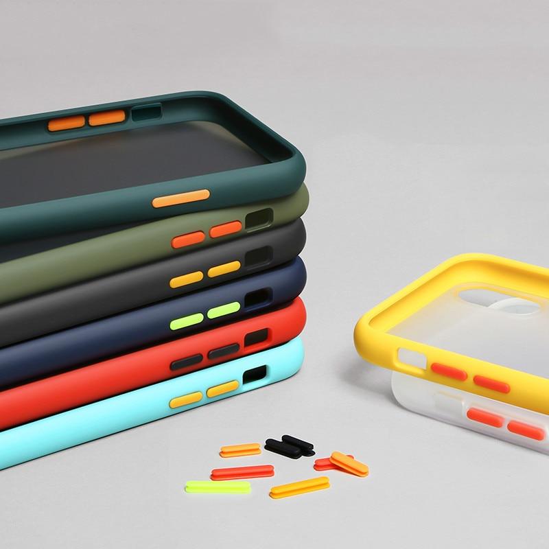 Shockproof Silicone Matte Case For Samsung Galaxy S10 S9 S8 Plus S10E Note 10 Pro 9 A10 A20 A20E A30 A40 A50 A60 A70 A80 Cases