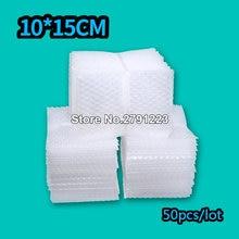 Polietileno-bolsa protectora De Burbujas para manualidades, Material De Embalaje De 10x15cm, 50 Uds.