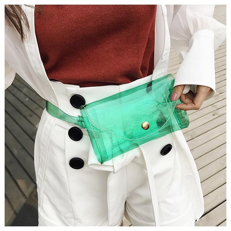2019 New Fashion Beach Fanny Pack Waist Bag Women Messenger Cute Transparent Jelly Waterproof Crossbody Bag Chest Bag