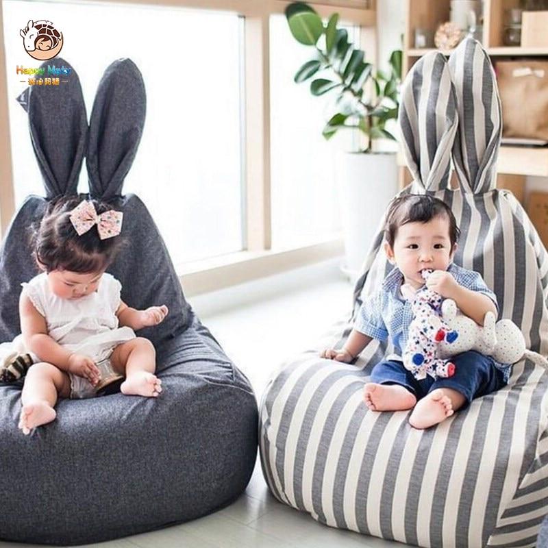 Happymaty Baby Shining Bean Bag Infant Sofa Seat Lazy Chair Kids Room Decoration Cartoon Bunny Sofa Chair Armchair M01