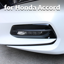 Car Front Fog Light Strip Frame Cover Body Bright Accessories Modified For Honda Accord 10th 2018 2020
