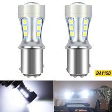 2X P21W 1156 BA15S 7443 T20 1157 BAY15D T15 W16W LED Canbus bulb Reversing light White For Kia Rio 3 4 2015 2016 2017 2018 2019