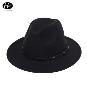 Eksplozje europejskie i amerykańskie męskie czapki jazzowe moda brytyjskie retro melonik kapelusze kapelusze wysokiej jakości wełniane tkaniny kapelusze damskie tanie i dobre opinie CN (pochodzenie) Unisex Wool Felt Dla dorosłych MZ336 Na co dzień Stałe Warp knitting monochrome Bowler hat Conical