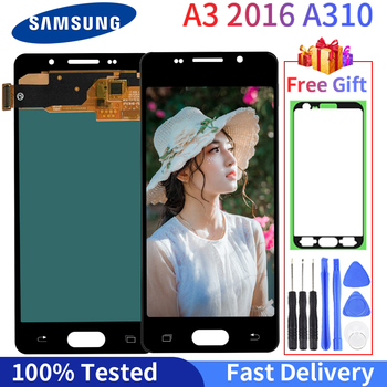 Super AMOLED LCD For Samsung Galaxy A3 2016 A310 Screen Display A310F A3100 LCD Display Touch Screen Digitizer Assembly 2960 1440 6 3 super amoled display screen for samsung galaxy note 8 lcd screen digitizer touch screen assembly with free tools