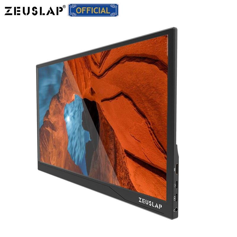 ZEUSLAP Новое поступление ультратонкий 15,6-дюймовый 1080p/сенсорная функция usb c hdmi ips экран Портативный игровой ЖК-монитор для ноутбука