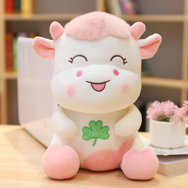 23/30/40cm Kawaii Cow Pet Doll Stuffed Lovely Animal Cattle Plush Toys for Children Girls Lover Birthday Christmas Gift Pillow