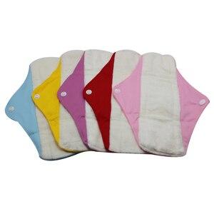 Image 3 - Gute Qualität Mama Tuch Pads Bambus Waschbar Sanitär Servietten 5 PCS MIT einem beutel
