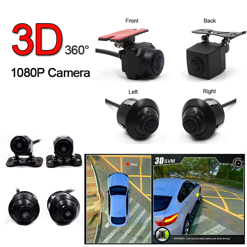 360 3D Car Bus Truck Camera DVR Birdview System 1080P Seamless Surround View Digital Video Recorder