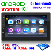Android 10.1カーラジオ,クアッドコア,1GB/16GB,GPSナビゲーション,WiFi,Bluetooth,ステレオ,2 DIN,ビデオメディアプレーヤー,DVD,車用VW,シュコダ,トヨタ
