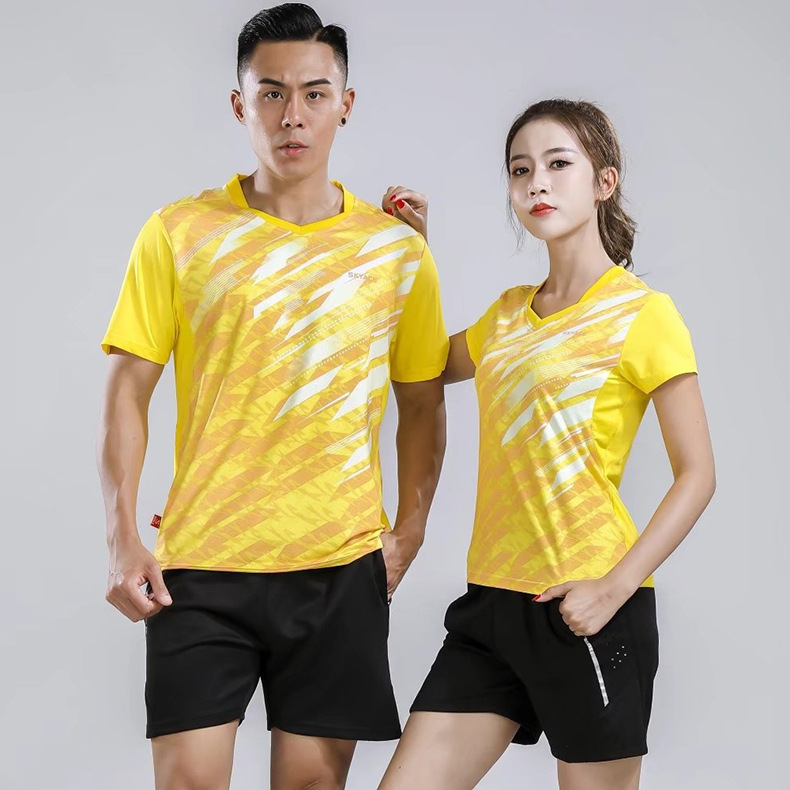 2018 Summer New Style Tennis Clothes Set Men's And Women's-Short Sleeved Badminton Clothing Sports Clothing Tournament Training