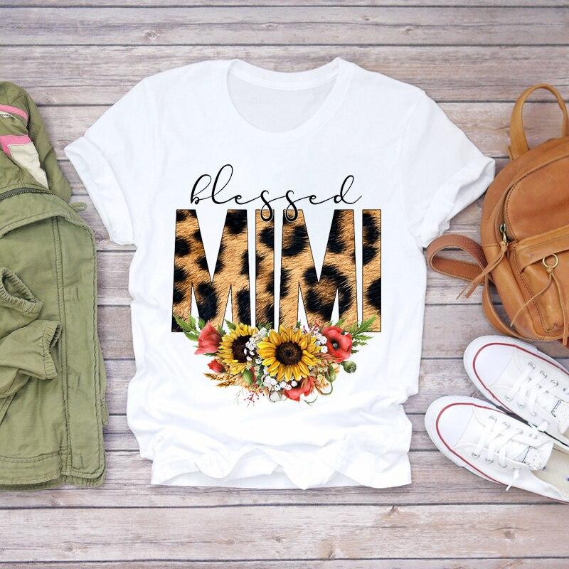Kobiety 2020 Cartoon Momlife mama matka chłopiec dziewczyna drukuj matka pani koszulki Top T koszula damska damska graficzna trójnik żeński T-Shirt