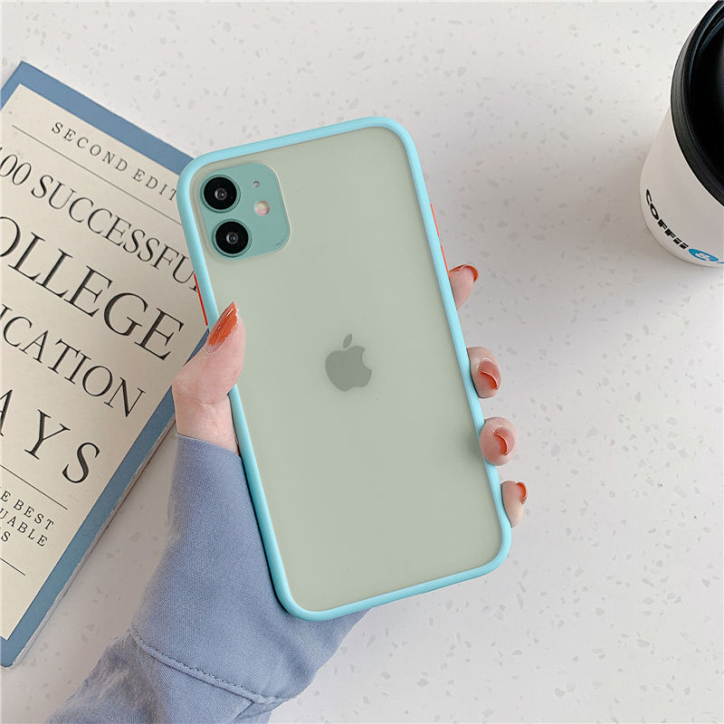 High Quality Mint Hybrid Simple Matte Bumper Phone Case For iPhone Mobiles 2