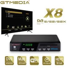 2021 neue TV rezeptor GTMEDIA X8 Combo Unterstützung DVB-S/S2/S2X + T/T2/Kabel/j.83B, /multi-stream/T2MI, Multi-PLP,Satellite TV decoder