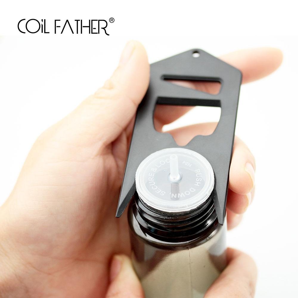 Coil Father E Cigarette Vape Accessories Tool Shortfill Plastic Bottle Opener Tool For E Liquid Oil Bottle Cap/beer Bottle