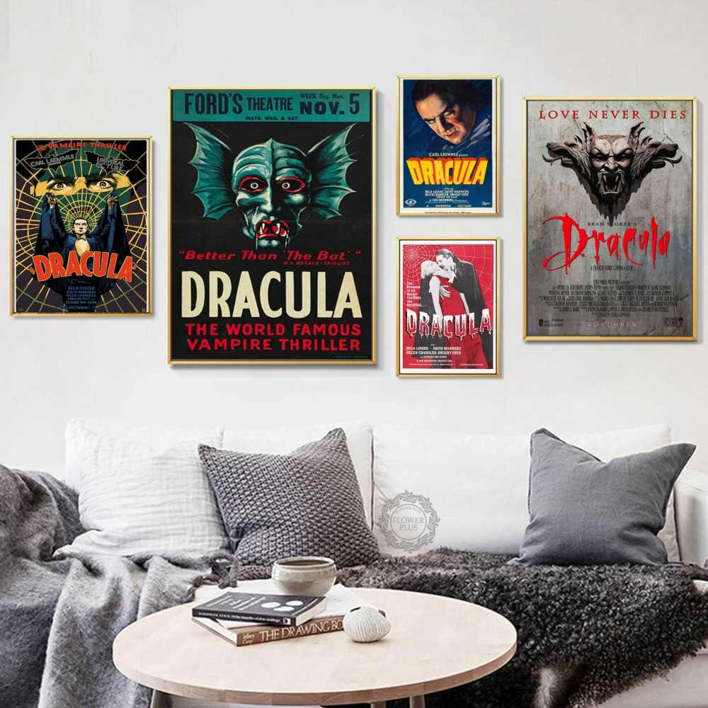 Top-Rated Canvas Print Classic Horror Modern Decorative Movie Dracula Hot Art Painting Silk Canvas Poster Wall Home Decor