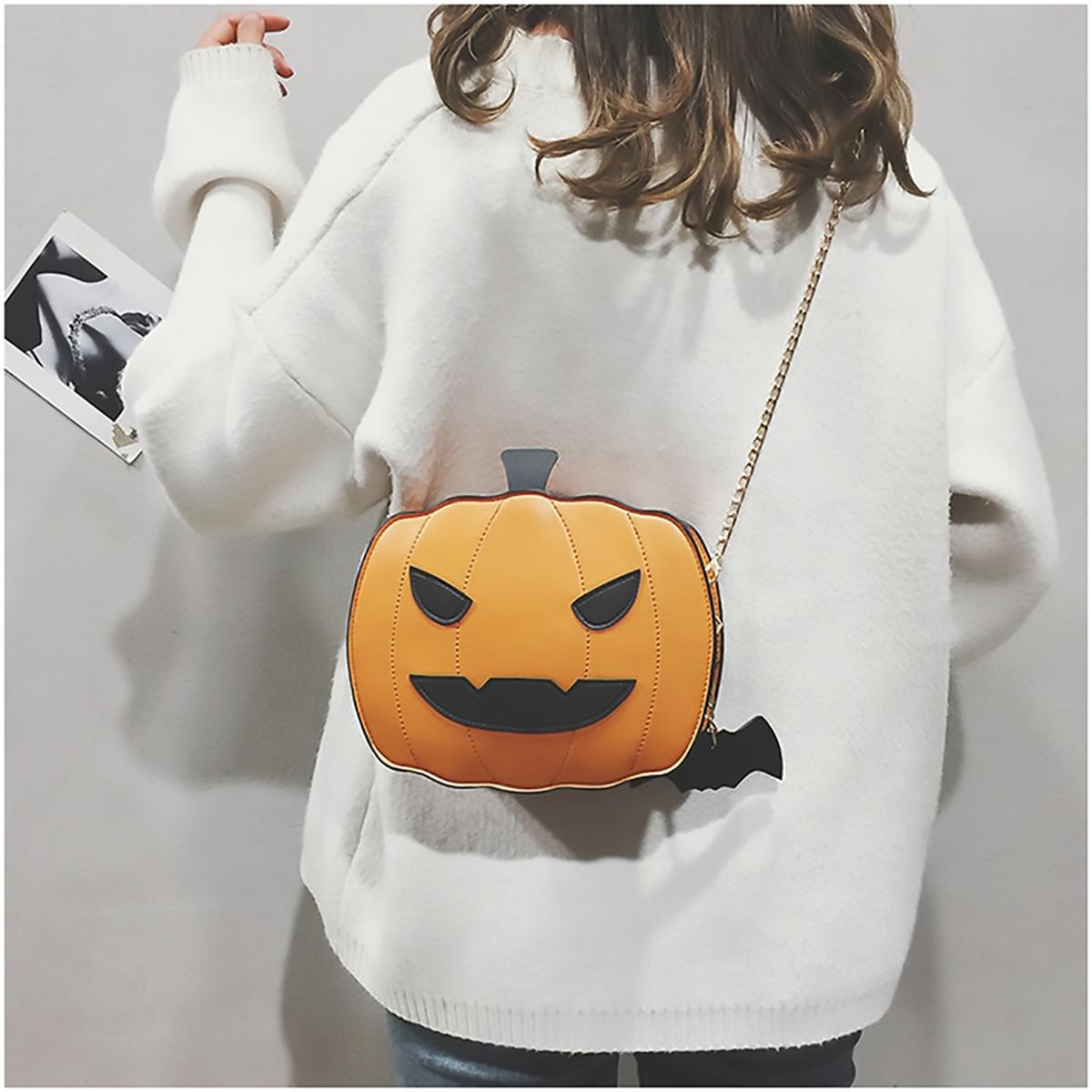 Shoulder Bag Pumpkin Bag For Women Pu Leather Creativity Easter Halloween Lamp Handbags New Designed  Cross Body Bags Gift 5