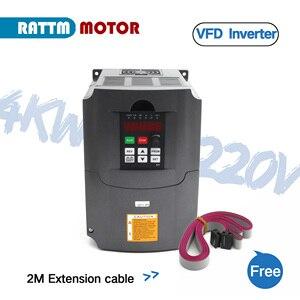 Image 3 - Variador de frecuencia CNC 4KW, inversor VFD 4HP 18A VSD 220V o 380V, control de velocidad del motor para fresado CNC