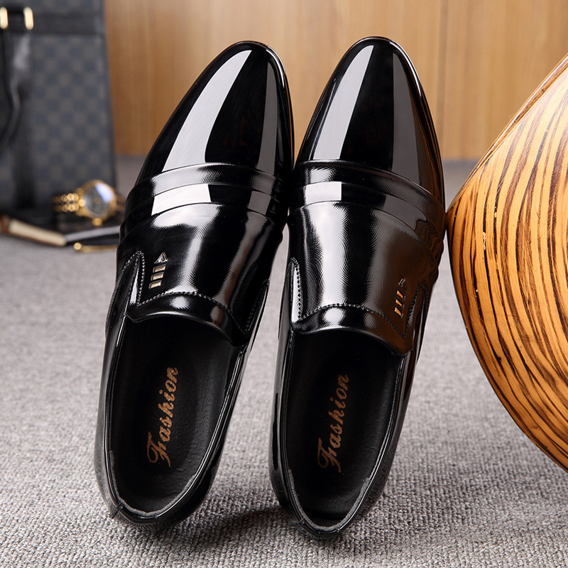 2019 Spring New Style Men's Women's Pointed-Toe Faux Pu England Men's Formal Wear Shoes Leather Shoes Extra High MEN'S SHOES