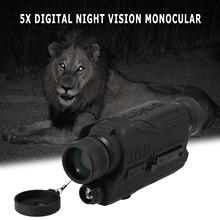 Монокуляр ночного видения с 200 м полная темная Камера Режим воспроизведения видео меню 8 Гб tf-карта 2x цифровой зум монокуляр ночного видения