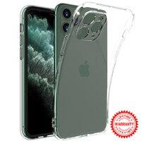 Funda transparente ultrafina para iPhone, 11 Pro, Max, 11Pro, XS, X, XR, SE, 2020, 7, 8 Plus, 6, 6S, 12, Mini, 5, 5S, de silicona suave de lujo