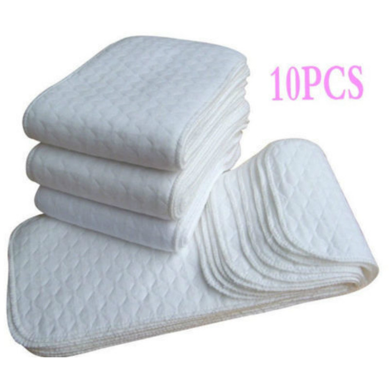 Reusable Baby Diapers Cloth Diaper Inserts 1 Piece 3 Layer Insert Cotton Washable Baby Care Products